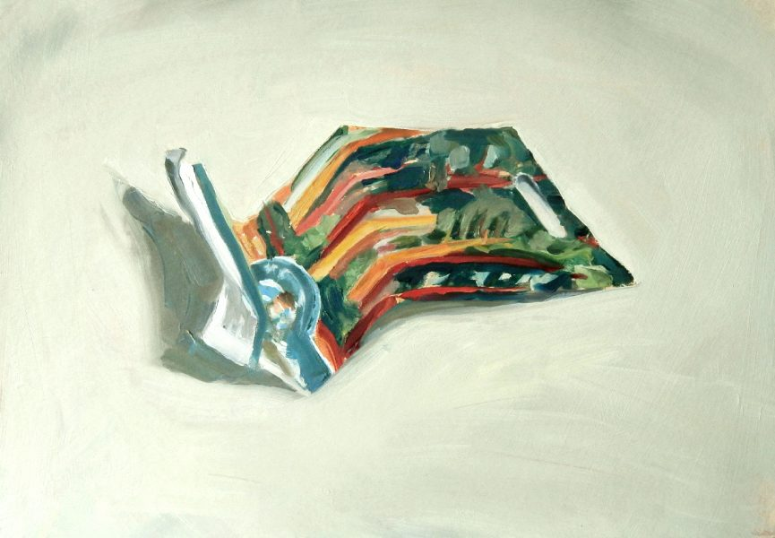 Painting of a Swiss Chard seed packet