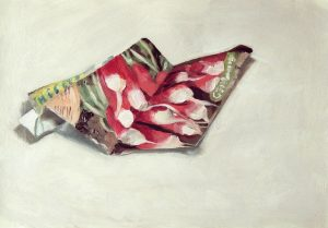 Painting of a Radish seed packet