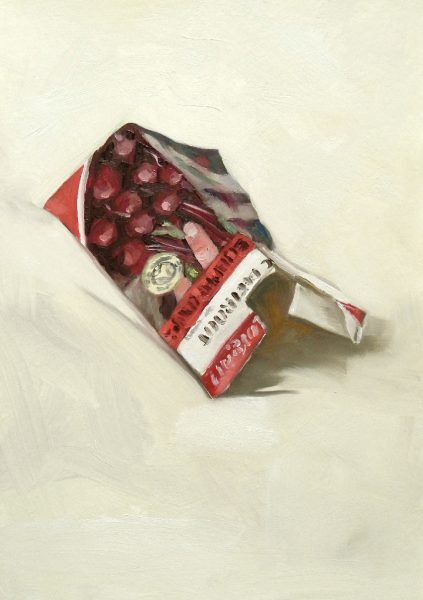 Painting of a Beetroot seed packet