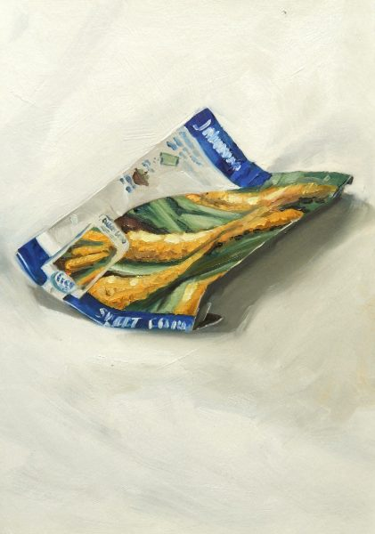 Painting of a Sweetcorn seed packet