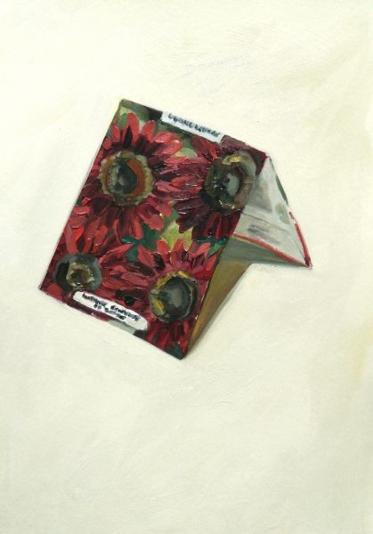 Painting of a Sunflower seed packet
