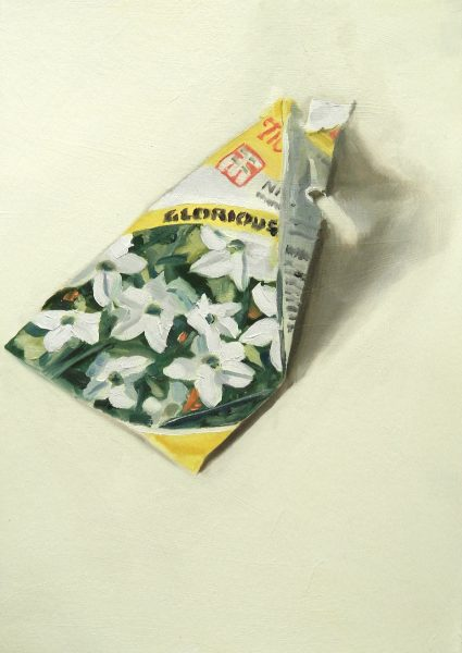 Painting of a Nicotiana seed packet