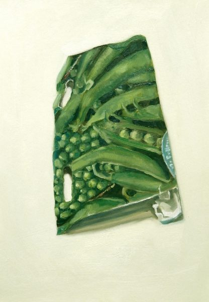 Painting of a Peas seed packet