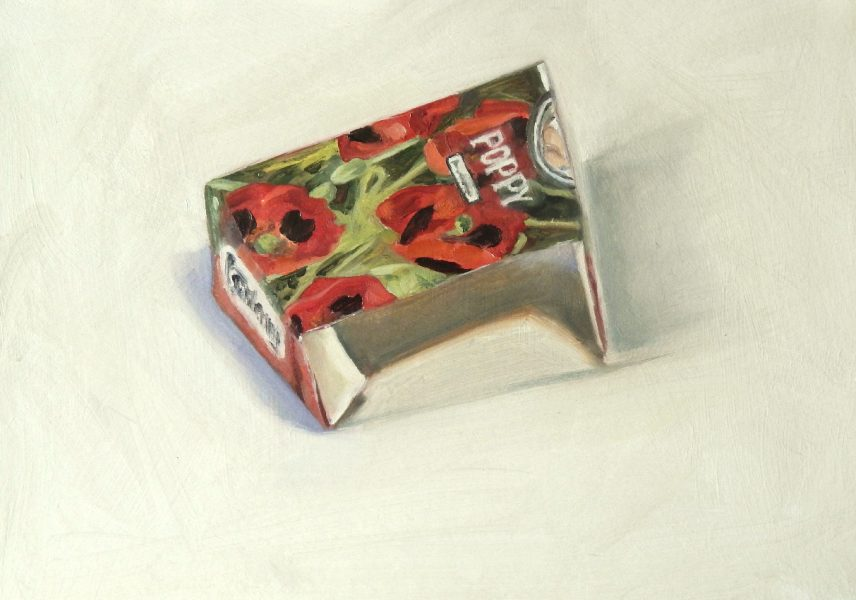 Painting of a Poppy seed packet