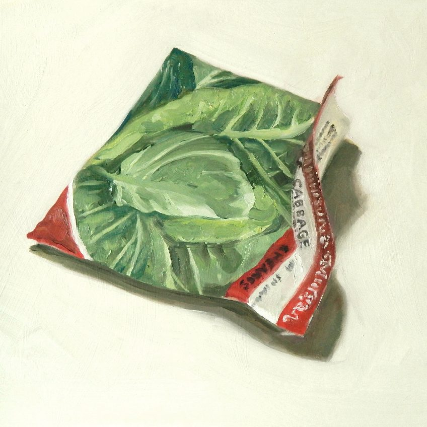 Painting of a Cabbage seed packet