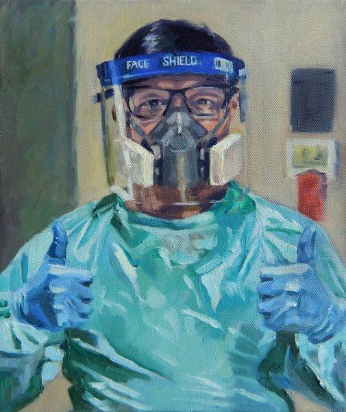 portrait of NHS hero