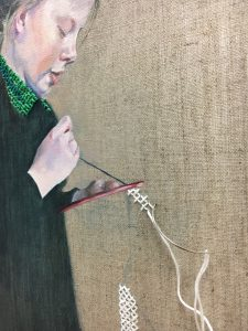 Close up of work in progress, by Sheri Gee