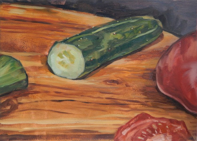still-life-painting-cut-cucumber-and-tomato