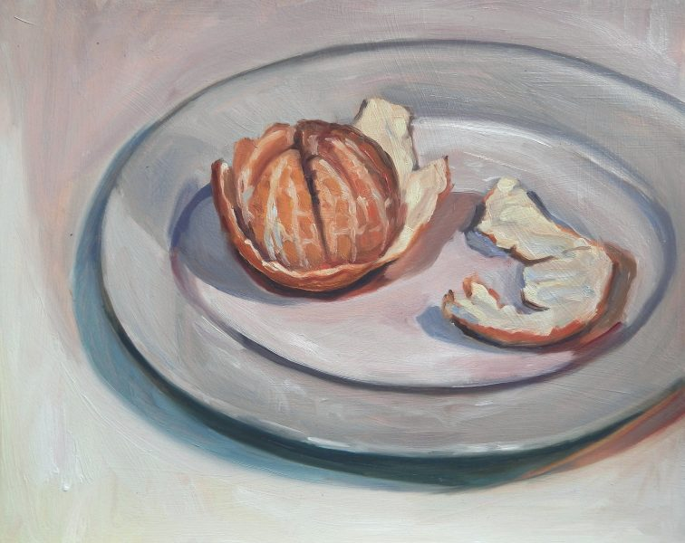 still-life-oil-painting-satsuma-on-plate